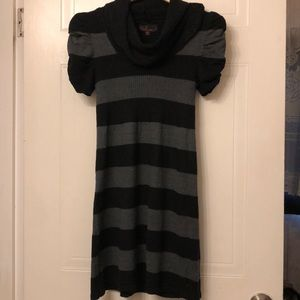 Striped stretchy warm and comfy sweater dress